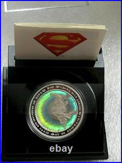 2013 Canada 9999 silver $20 dollars coin Superman Metropolis hologram box COA