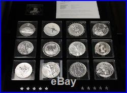 2013 Fabulous 15 Famous Silver Coins Bullion 1 Oz Canada Set
