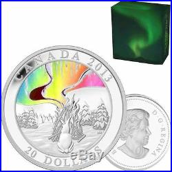 2013 Fine Silver Hologram Coin A Story of the Northern Lights The Great Hare