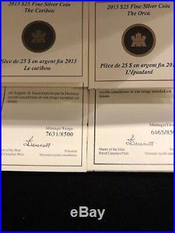 2013 OCanada 5 X $25 Silver Coin Set With Box