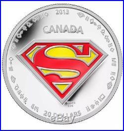 2013 Silver 1 oz. $20 SUPERMAN S-SHIELD Coin 75th Anniversary