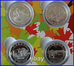 2014 10 X Fine Silver Proof Canada $10 Coin's Full Box Set + All Coa's O Canada