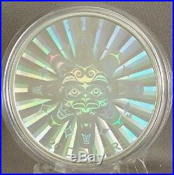 2014 $20 Interconnections Air The Thunderbird 1 oz Pure Silver Hologram Coin