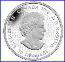 2014 62.7g/2 OZ $30.9999 FINE SILVER CANADIAN TIM BARNARD CONTEMPORARY ART COIN