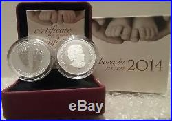 2014 Baby Gift Welcome to the World Pure Silver $10 1/2OZ Coin Canada Baby Feet