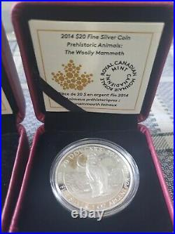 2014 Canadian Gold & Silver Woolly Mammoth Coin Series