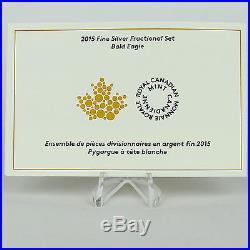 2015 Bald Eagle 99.99% Pure Silver 4-coin Fractional Proof Set, $2, $3, $4, $5