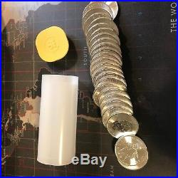 2015 Canada 1 oz Silver Maple Leaf Roll of 25 coins in MInt Tube Unhandled