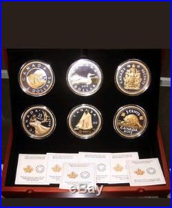2015 Canada Big Coin Series Set of 6 Coins 5oz. 9999 pure silver. GST Exempt