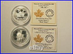 2015 Canada Looney Tunes Silver 8 Coin Set No TAX #2501