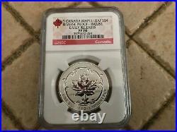 2015 Canada Silver Maple Leaf Reverse Proof Enameled Set NGC PF70 ER