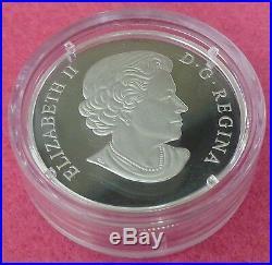 2015 Canada Silver Murano Glass Turtle Twenty Dollars $20 Proof Coin Box And Coa