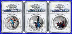 2015 Canada Superman 3-coin Silver Set Ngc Pf70 First Releases Only 8 Exist