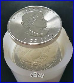 2015 Canadian Bison 1.25 oz. 9999 Silver LIMITED BULLION BU COIN Tube, roll 20