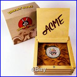 2015 LOONEY TUNES MERRIE MELODIES BUGS BUNNY 1oz. 9999 Silver Coin Box & COA