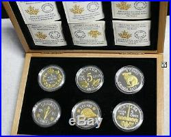 2015 Set of 6'Legacy of the Canadian Nickel' Proof 5ct Fine Silver Coins (XEG)