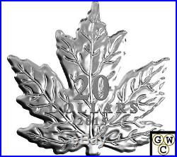 2015 The Canadian Maple Leaf Shaped Prf $20 Silver Coin 1oz. 9999Fine(NT)(17413)