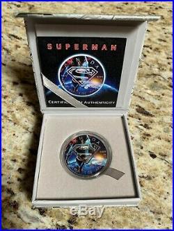 2016 1oz Superman Brilliant Uncirculated Silver Canadian Precious Bullion Coin