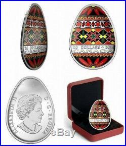 2016 2017 2018 2019 Pysanka Silver Coin Canada Complete Collection
