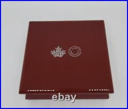 2016-Canada $50-5 oz SILVER COIN-Murano Glass-Maple Leaf-AUTUMN RADIANCE-COA