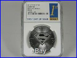 2016 Canada $5.9999 Fine Silver, Superman Coin NGC Ms 70 First Day of Issue
