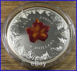 2016 Canada 5 oz Silver $50 Murano Maple Leaf Autumn Radiance / Each Coin Unique
