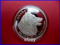 2016 Canada 9999 Silver Fractional Set Wolf Maple Leaf Coin