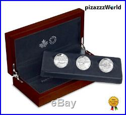 2016 Canada 99.99% Silver 3-Coin Set'Reflections of Wildlife' Grizzly Otter Fox
