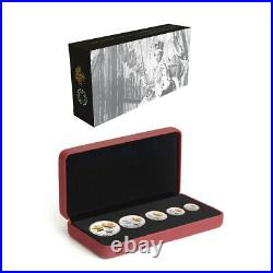 2016 Canada Pure Silver 5-Coin Maple Leaf Fractional Set RP70 First Release