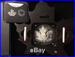 2016 Canada Pure Silver Maple Leaf-Shaped Proof $20 Colorized Coin 1 Oz. OGP/COA