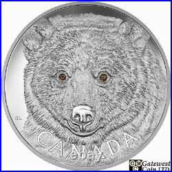 2016 Kilo'In The Eyes of the Spirit Bear' $250 Silver Coin. 9999 Fine (17572)