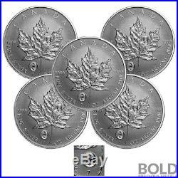 2016 Silver 1 oz Canada Maple Leaf Yin Yang Privy Reverse Proof (5 Coins)