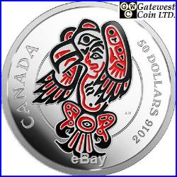 2016 The Eagle-Realms of the Haida Proof $50 Silver Coin 5oz. 9999Fine(17600)NT