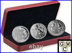 2017The Fogotten 1927 Designs-RCM Coin Lore Set of 3 Prf 1oz Silver. 9999(18113)