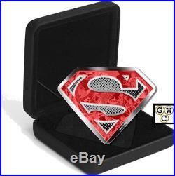 2017 $100 Fine Silver Coin-DC Comics(TM)OriginalsSuperman's Shield 10oz. (18279)