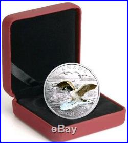 2017 1 Oz PROOF Silver $20 Canadian 3D APPROACHING GOOSE Coin