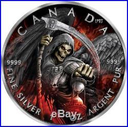2017 1 Oz Silver $5 APOCALYPSE GRIM REAPER 2 Coin