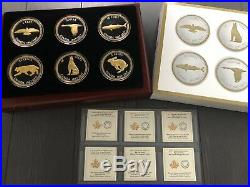 2017 Big Coin Canada Set. 9999 Fine Silver Coin Complete and with small error