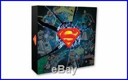 2017 Canada $100 DC Comics Originals Superman's Shield Pure Silver Coin -10oz
