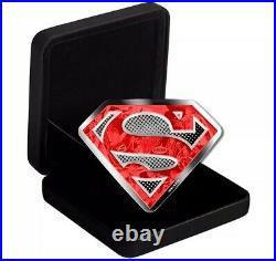 2017 Canada 100 dollar 10 oz Superman Shield Silver Coin