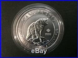 2017 Canada $8 1.5oz 1 1/2oz Canadian Grizzly Bear Fine Silver Bullion coin