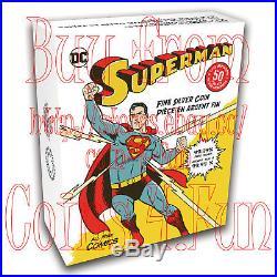 2017 Canada DC Comics Superman All Star Comics $50 Gold-Plated Pure Silver Coin