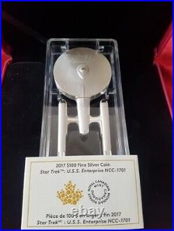 2017 Canada Pure Silver Coin STAR TREK U. S. S. Enterprise NCC-1701