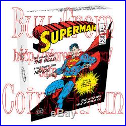 2017 DC Comics Superman Brave Bold $50 Reverse 3OZ Gold-Plated Pure Silver Coin