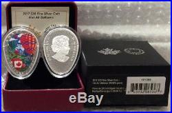 2017 Hot Air Balloons $20 Balloon-Egg-Shaped 1OZ Pure Silver Proof Coin Canada