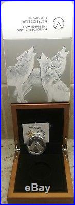 2017 Master of Land Timber Wolf $20 Scallop-edged Pure Silver Proof Coin Canada