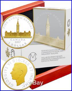 2017 Parliament Canada Peace Tower 2OZ Silver Renewed Dollar Coin Royal Visit