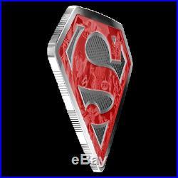 2017 Silver 10 oz. Coloured Coin DC Comics Originals Superman's Shield