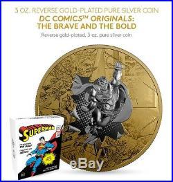 2017 Silver SUPERMAN THE BRAVE AND BOLD DC COMICS ORIGINALS Coin
