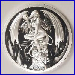 2017 Temptation Of The Succubus 2 oz. 999 Silver Capsuled Proof Round Coin WithCOA
